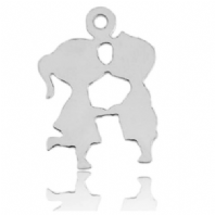 Sterling Silver Lover Kissing Charms